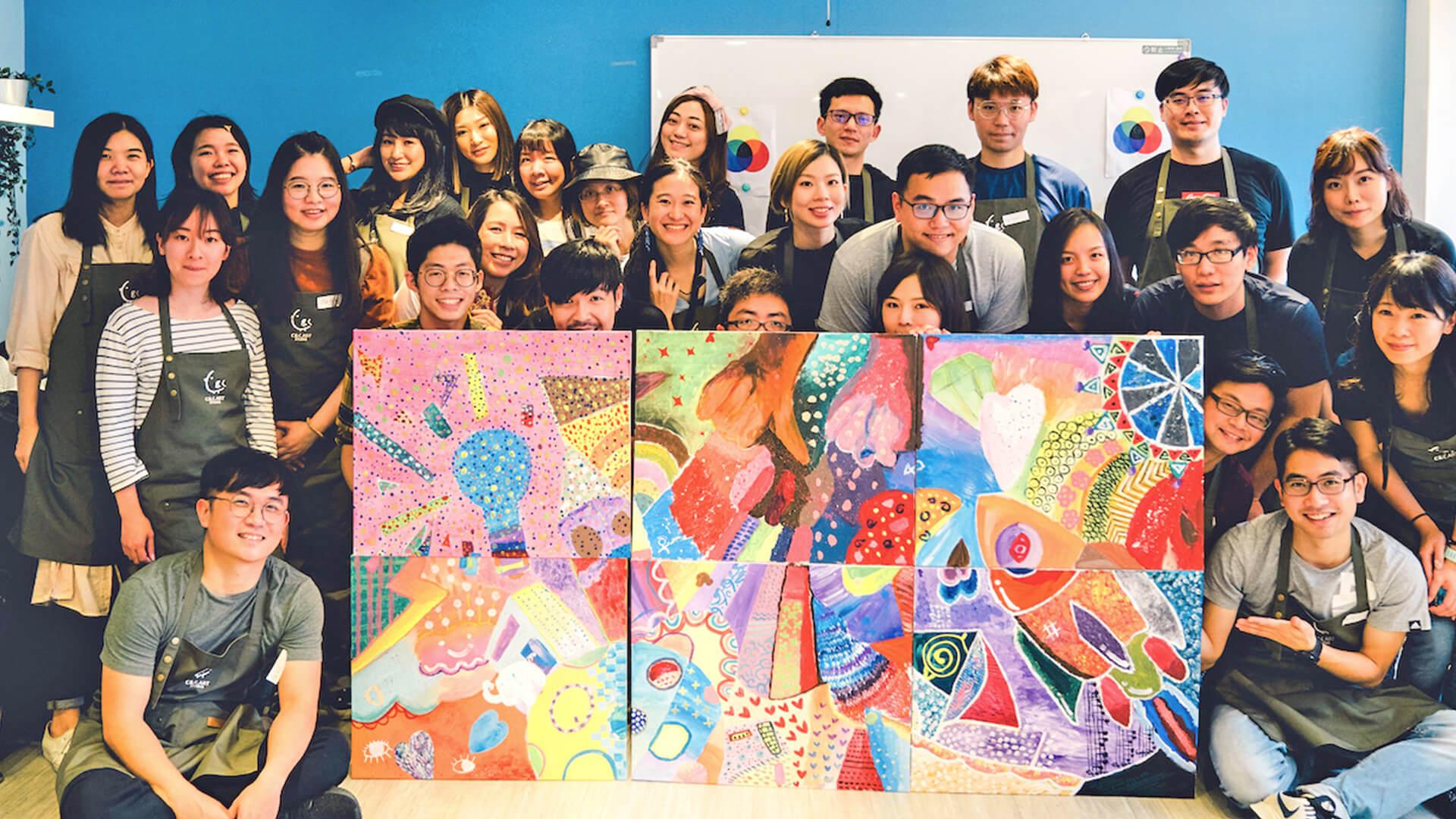 團隊拼畫 – 一起用畫筆,揮灑團隊的創意